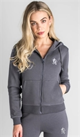 Picture of Gym King Women's GK Jenner Zip Through Hoodie Dark Grey