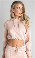 Picture of Gym King Women's GK Sia Copped Pullover Hoodie Suede Blush Pink
