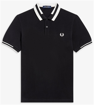 Picture of Fred Perry Polo Shirt Block Tipped Black