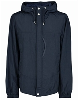 Picture of Pretty Green Jacket Zip Through Nylon Hooded Navy