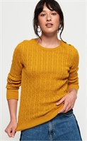Picture of Superdry Ladies Knitwear Croyde Cable Ochre