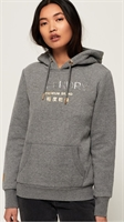 Picture of Superdry Ladies Hoody Premium Brand Frost Grey Marl