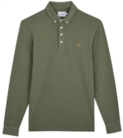 Picture of Farah Polo Shirt Long Sleeve Ricky Winter Balsam Marl