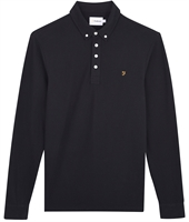 Picture of Farah Polo Shirt Long Sleeve Ricky Deep Black