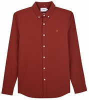 Picture of Farah Shirt Brewer Burnt Red