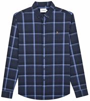 Picture of Farah Shirt Steen Check True Navy