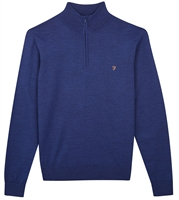 Picture of Farah Knitwear Redchurch 1/4 Zip Blue Peony Marl