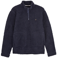 Picture of Farah Fleece Sweatshirt Briars 1/4 Zip True Navy