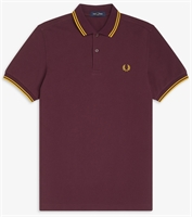 Picture of Fred Perry Polo Shirt M3600 Mahogany / Gold