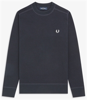 Picture of Fred Perry Knitwear Waffle Texture Navy