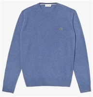 Picture of Lacoste Knitwear Crew Neck Wool Jumper Blue Chine