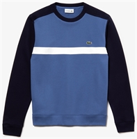 Picture of Lacoste Sweatshirt Colourblock Cotton Fleece Navy/White/Blue