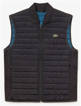 Picture of Lacoste Gilet Quilted Vest Black
