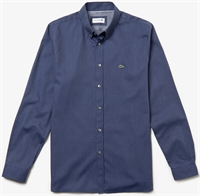 Picture of Lacoste Shirt Slim Fit Polka Dot Print Navy Blue