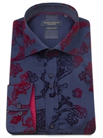 Picture of Guide London Shirt LS75277 Navy Flock