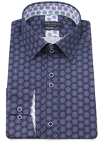 Picture of Guide London Shirt LS75226 Navy/White