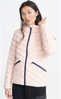 Picture of Superdry Ladies Jacket Essentials Helio Padded Peach Whip