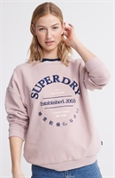 Picture of Superdry Ladies Sweatshirt Applique Serif Crew Violet Haze
