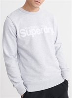 Picture of Superdry Sweatshirt Core Logo Faux Suede Collective Light Marl