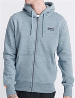 Picture of Superdry Hoody Orange Label Classic Zip Desert Sky Blue Grit