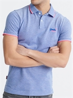 Picture of Superdry Polo Shirt Poolside Pique Cobalt