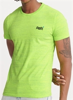 Picture of Superdry T-Shirt Orange Label Vintage Embroidery Neon Green Space Dye