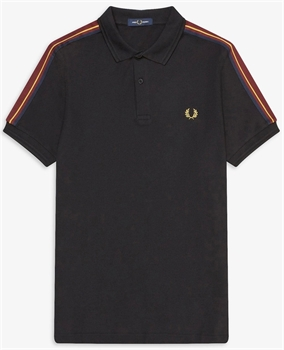 Picture of Fred Perry Polo Shirt Taped Shoulder Black