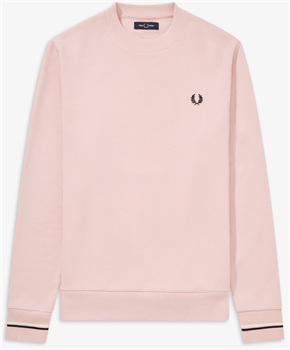 Picture of Fred Perry Sweatshirt Crew Neck Silver Pink