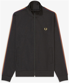 Picture of Fred Perry Track Jacket Taped Sleeve Black