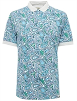 Picture of Pretty Green Polo Shirt Paisley Print Green