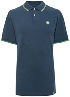 Picture of Pretty Green Polo Shirt Barton Tipped Pique Navy