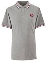 Picture of Pretty Green Polo Shirt Likeminded Chest Badge Grey
