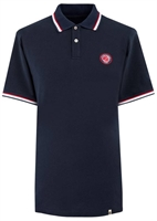 Picture of Pretty Green Polo Shirt Likeminded Chest Badge Navy