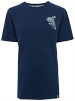 Picture of Pretty Green T-Shirt Paisley Chest Embroidery Navy