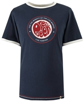 Picture of Pretty Green T-Shirt Likeminded Print Navy