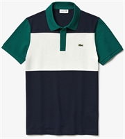 Picture of Lacoste Polo Shirt Slim Fit Stretch Colourblock Navy/White/Green U9F