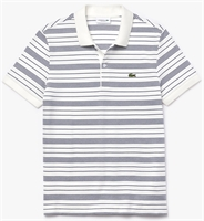 Picture of Lacoste Polo Shirt Regular Fit Striped Cotton White/Navy QSF