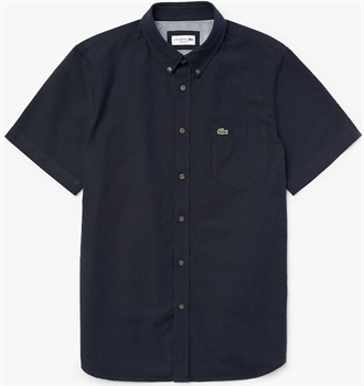 Picture of Lacoste Shirt Regular Fit Oxford Cotton Navy Blue