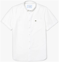 Picture of Lacoste Shirt Regular Fit Oxford Cotton White