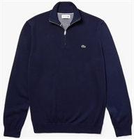 Picture of Lacoste Sweatshirt 1/4 Zip Stand-Up Collar Navy