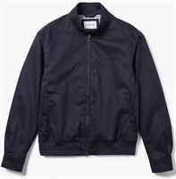 Picture of Lacoste Jacket Lightweight Cotton Zip Navy