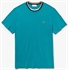 Picture of Lacoste T-Shirt Contrast Crew Neck Green XN3