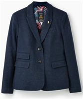 Picture of Joules Blazer Wiscombe Navy Tweed