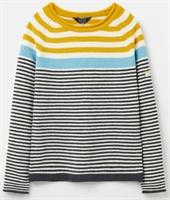 Picture of Joules Jumper Seaport Cream Grey Blue Gold