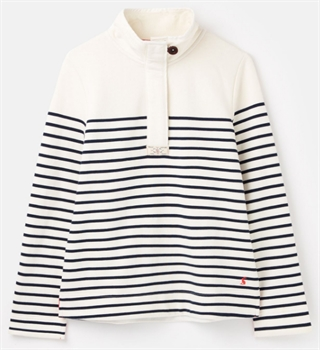 Picture of Joules Sweatshirt Saunton Cream Navy Stripe