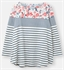 Picture of Joules Top Harbour Light Swing Cream Blue Floral Border
