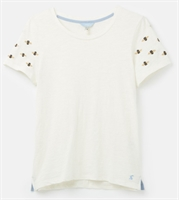 Picture of Joules T-Shirt Carley Embroidered Cream Bee