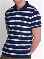 Picture of Lyle & Scott Polo Shirt Wide Double Stripe Navy