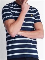Picture of Lyle & Scott T-Shirt Wide Double Stripe Navy