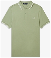 Picture of Fred Perry Polo Shirt M3600 Light Sage/Snow White